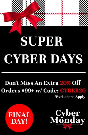 Super Cyber Days Don't Miss An Extra 20% Off Orders $99+ w Code: CYBER20