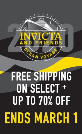Invicta and Friends Ocean Voyage Free Shipping on Select + Special Event Pricing Ends March 1