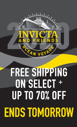 Invicta and Friends Ocean Voyage Free Shipping on Select + Special Event Pricing Ends Tomorrow