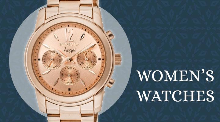 660-673 Invicta Women's Angel Quartz Day & Date Rose-tone Stainless Steel Bracelet Watch