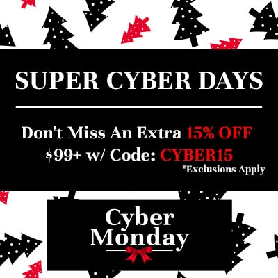 Super Cyber Days Don't Miss An Extra 15% Off Orders $99+ w Code: CYBER15