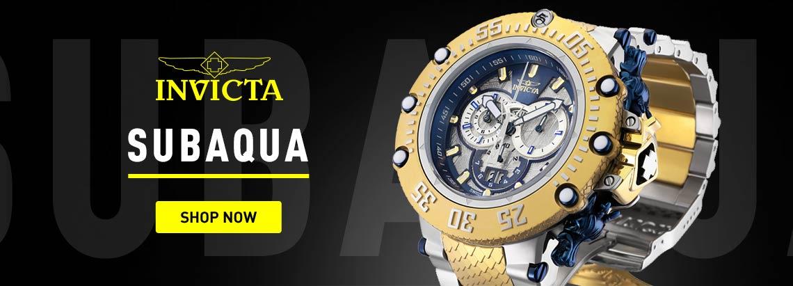 Invicta Subaqua -673-624 Invicta Men's 52mm Subaqua Noma VII Swiss Quartz Chronograph Meteorite Bracelet Watch