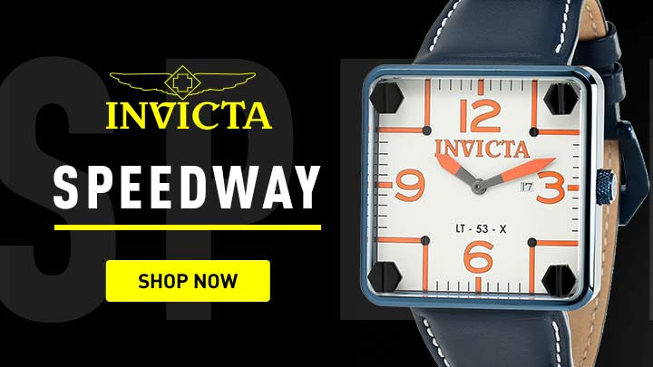 Invicta Speedway - 673-625 Invicta Men's 45mm Speedway Swiss Quartz Leather Strap Watch