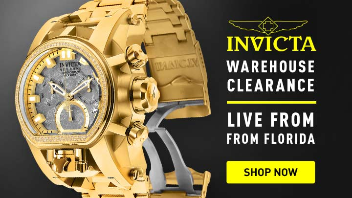 Invicta Warehouse - 668-042 Invicta Reserve Men's 52mm Bolt Zeus Magnum Swiss Quartz 0.43ctw Diamond Meteorite Bracelet Watch