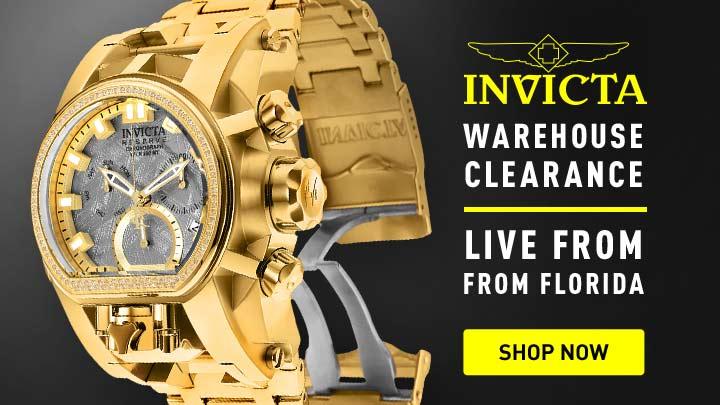 Invicta Warehouse - 668-042 Invicta Reserve Men's 52mm Bolt Zeus Magnum Swiss Quartz 0.43ctw Diamond Meteorite Bracelet Watch
