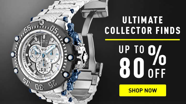Ultimate Collector Finds - 673-624 Invicta Men's 52mm Subaqua Noma VII Swiss Quartz Chronograph Meteorite Bracelet Watch