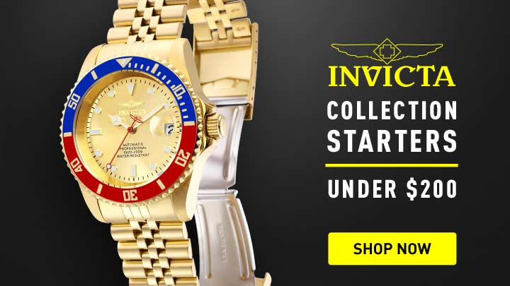 Collection Starters - 678-661 Invicta 42mm Pro Diver Automatic Date Bracelet Watch w 8-Slot Dive Case