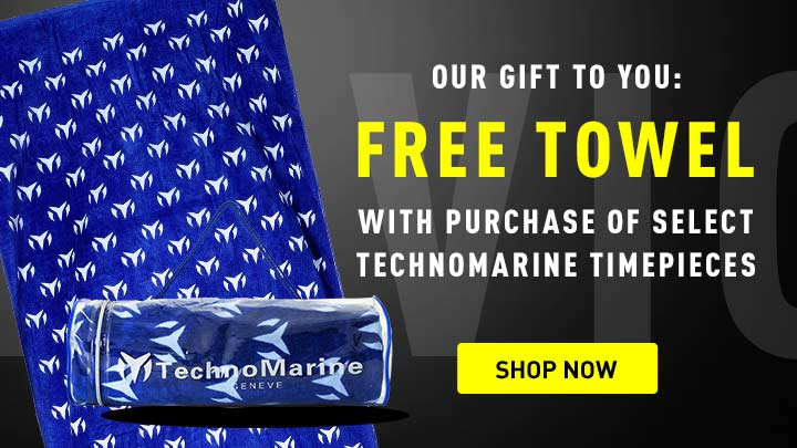 Free Towel - 660-177 TechnoMarine 72 x 40 100% Cotton Oversized Beach Towel