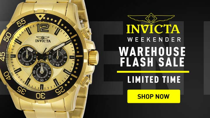Warehouse Flash Sale - 653-040 Invicta Men's 45mm Specialty Quartz Chronograph Stainless Steel Bracelet Watch
