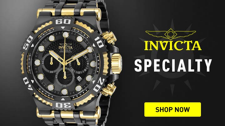 Invicta Specialty - 673-210 Invicta Men's 50mm Chaos Quartz Chronograph Stainless Steel Bracelet Watch