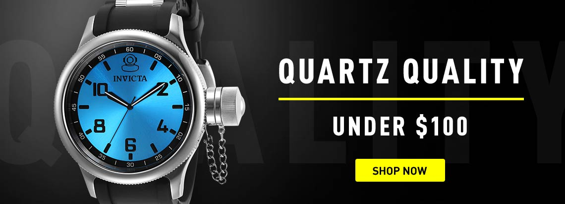 Quartz Quality - Under $100 -  673-590 Invicta Men's 51.5mm Russian Diver Quartz Stainless SteelPolyurethane Strap Watch