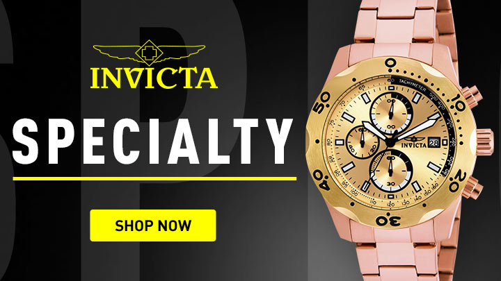 Invicta Specialty - 678-091 Invicta 45mm Specialty Quartz Chronograph Bracelet Watch w 8-Slot Dive Case