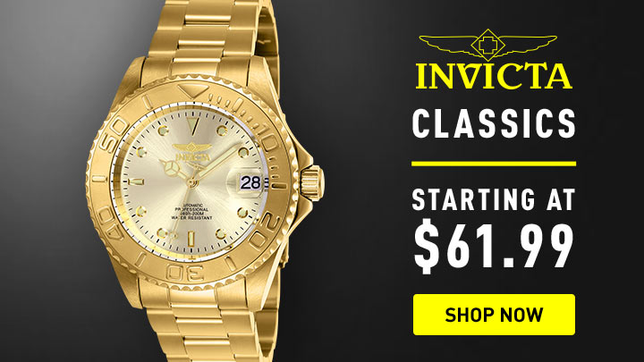 Invicta Classics - Starting at $61.99 - 678-663 Invicta 40mm Pro Diver Automatic Stainless Steel Bracelet Watch
