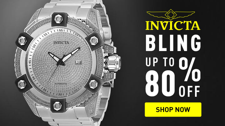 Bling up to 80% off - 676-842 Invicta Men's 56mm Grand Octane Ltd Ed Automatic 4.35ctw Diamond Bracelet Watch