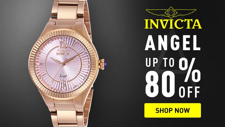 Invicta Angel Up to 80% Off at ShopHQ 658-813 Invicta Women's Angel Quartz Crystal Accented Stainless Steel Bracelet Watch
