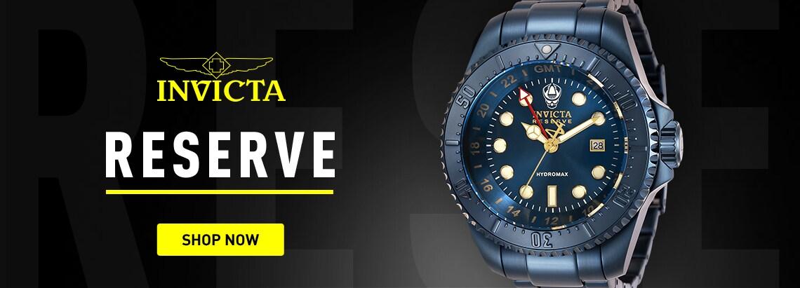 Invicta Reserve at ShopHQ 674-126 Invicta Reserve 52mm Hydromax Blue Label Swiss Quartz GMT Bracelet Watch