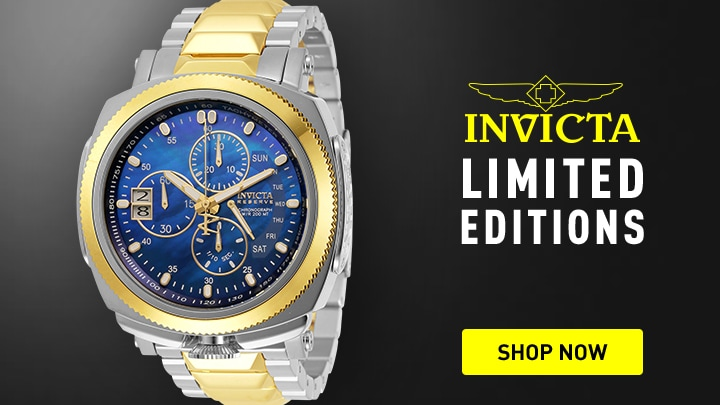 Invicta Limited Editions Shop Now at ShopHQ 669-364 Invicta Reserve Men's 52mm Russian Diver 15th Anniversary Ltd Ed Swiss Quartz Bracelet Watch