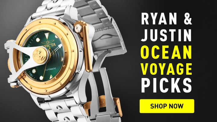 Invicta Ryan & Justin Ocean Voyage Picks at ShopHQ 674-127 Invicta 52mm Vintage Chatham & Dover Automatic Stainless Steel Bracelet Watch