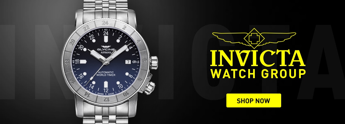Invicta Watch Group at ShopHQ 678-646 Glycine Men's 42mm Airman Swiss Made Automatic GMT Date Nylon Strap Watch
