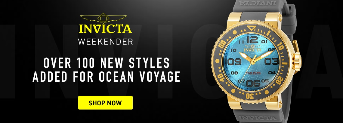 Invicta Weekender New For Ocean Voyage at ShopHQ 678-956 Invicta 40mm Pro Diver Ocean Voyage Quartz Silicone Strap Watch