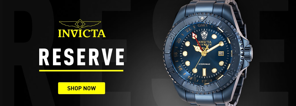 Invicta Reserve at ShopHQ 674-126 Invicta Reserve 52mm Hydromax Blue Label Swiss Quartz GMT Bracelet Watch
