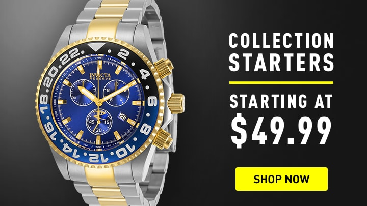 Invicta Collection Starters at ShopHQ 679-330 Invicta Reserve 44mm Pro Diver Swiss Quartz Chrono Watch w 8-Slot Dive Case