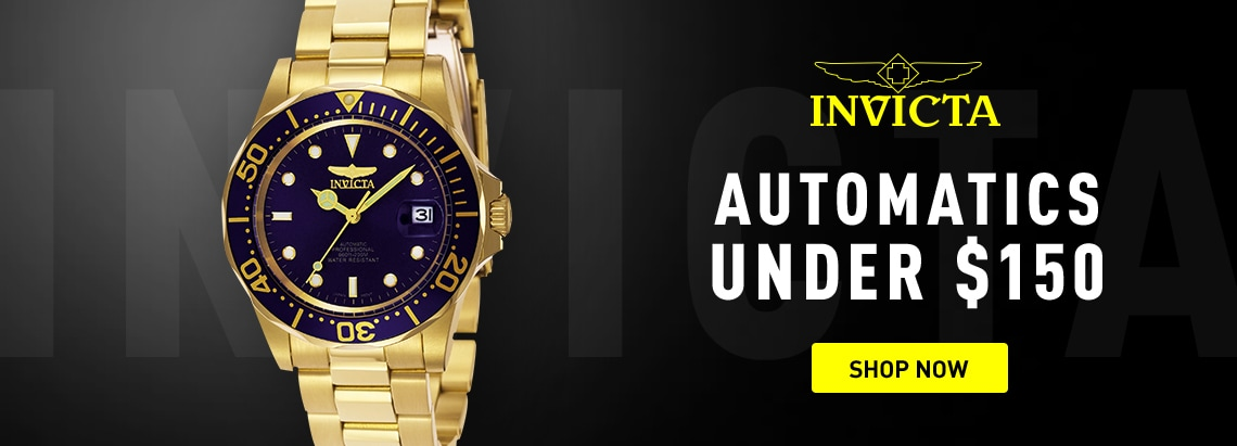 Invicta Automatics under $150 at ShopHQ 674-645 Invicta 40mm Pro Diver Automatic Bracelet Watch w 1-Slot Dive Case
