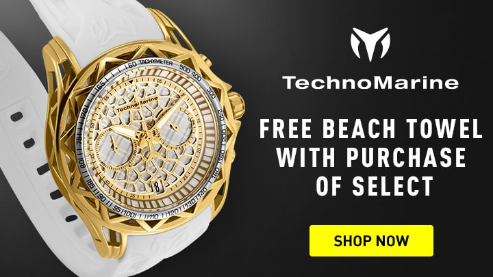 Free Beach Towel With Purchase of Select at ShopHQ 673-052 TechnoMarine Men's 44mm Technocell Quartz Chronograph Date Silicone Strap Watch
