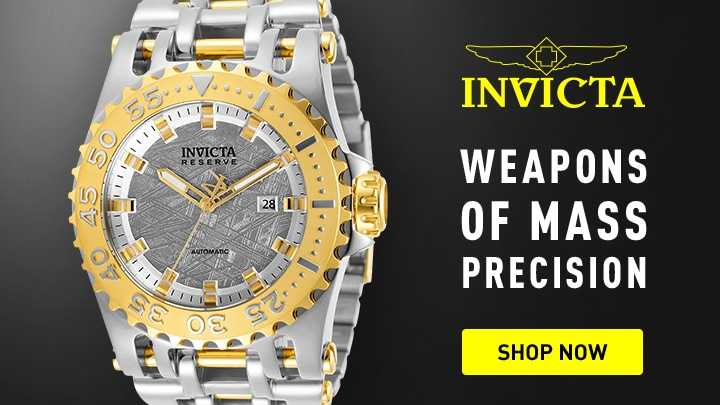675-778 Invicta Reserve Men's 50mm Chaos Swiss R150 Automatic Meteorite Dial Bracelet Watch
