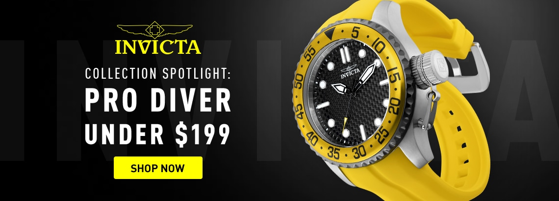 678-238 Invicta Men's 50mm Pro Diver Medusa Quartz Carbon Fiber Dial Strap Watch