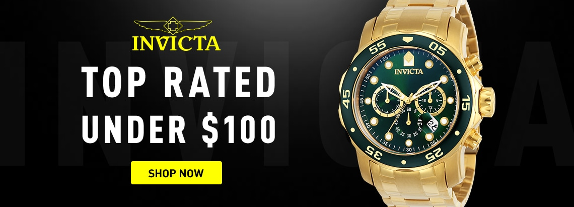 Invicta Top Rated Under $100 | 678-667 Invicta 48mm Pro Diver Scuba Quartz Chronograph Bracelet Watch w 8-Slot Dive Case