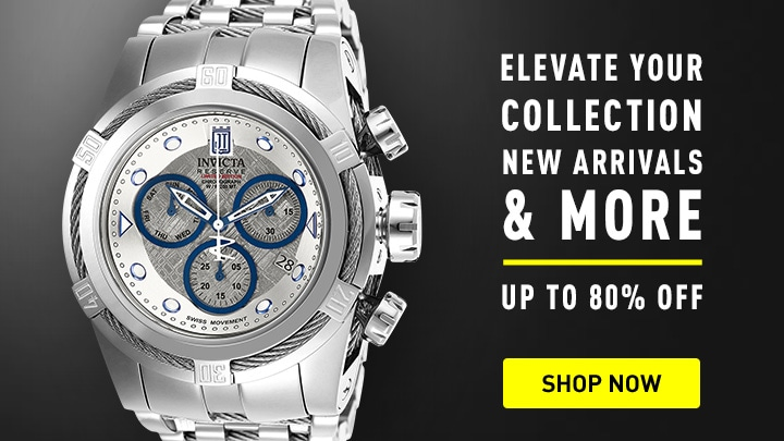 Elevate your collection New Arrivals & more up to 80% off676-897 Invicta Men's 52mm JT Bolt Zeus Ltd Edition Swiss Quartz Chronograph Meteorite Dial Bracelet Watch
