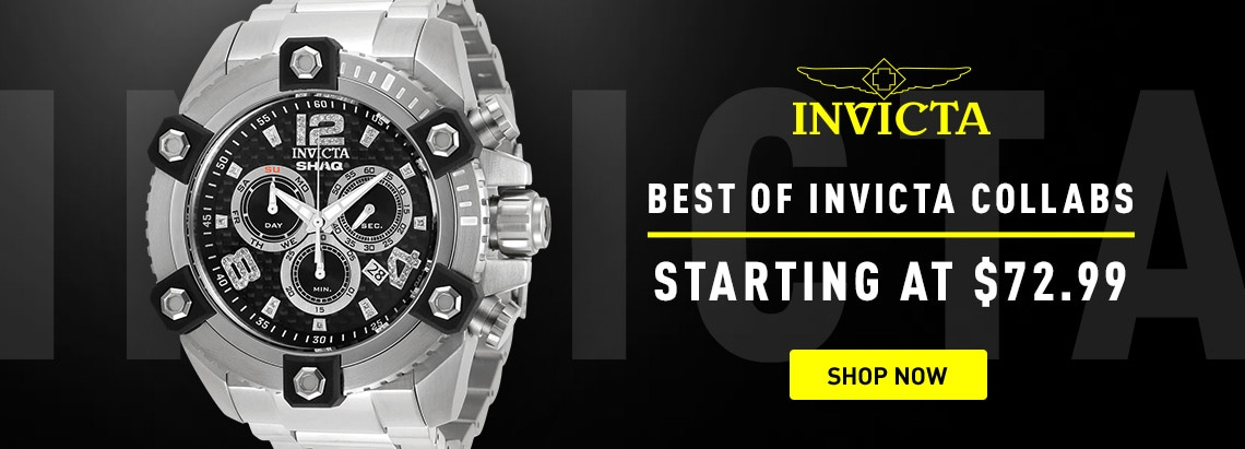 Invicta Best of Invicta Collabs Starting at $72.99 679-461 Invicta Shaq 63mm Grand Octane Ltd Ed Swiss Quartz Chronograph Diamond Accented Watch w 1-Slot DC