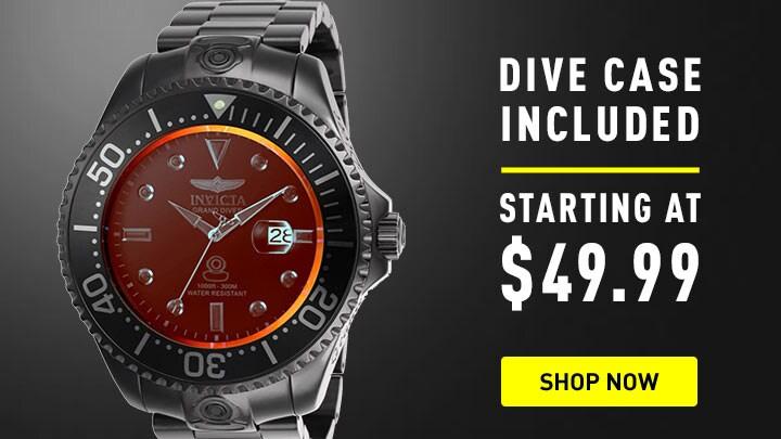 669-879 Invicta 54mm Grand Diver Radar Automatic Bracelet Watch w 8-Slot Dive Case