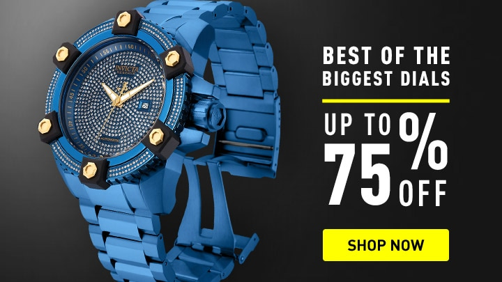 Best of the Biggest Dials up to 75% off 657-217 Invicta Reserve Men's 63mm Grand Octane Blue Label Ltd Edition Swiss Automatic 3.06ctw Diamond Watch