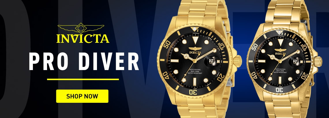 Invicta Pro Diver 679-492 Invicta 38mm & 42mm Pro Diver Quartz Stainless Steel Bracelet Watch