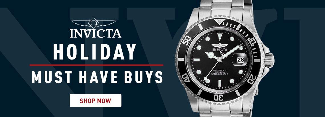 661-518 Invicta 40mm Pro Diver Quartz Magnified Date Window Stainless Steel Bracelet Watch