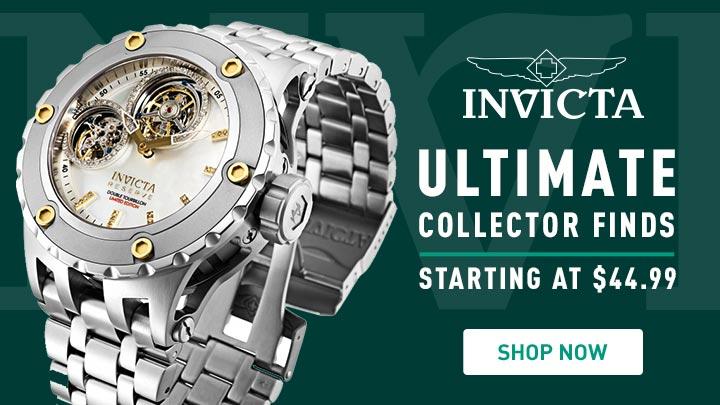 Invicta Ultimate Collector Finds 682-679 Invicta Reserve 52mm Subaqua Specialty Ltd Ed Mechanical Double Tourbillon 0.35ctw Diamond Watch
