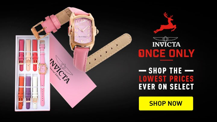 Invicta Once Only Days Shop the Lowest Prices Ever on Select - 677-898 Invicta Women's Baby Lupah Quartz Mother-of-Pearl Dial Watch w 7-Piece Strap Set