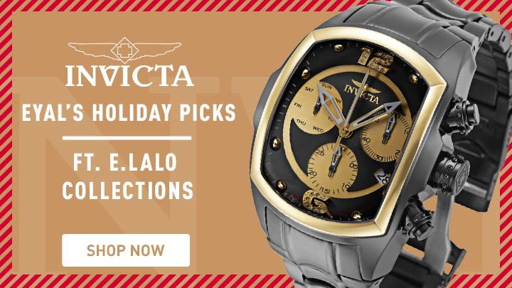 Invicta Eyal's Holiday Picks Ft. E.Lalo Collections - 681-542 Invicta E.Lalo Lupah Revolution Diamond Quartz Chronograph Bracelet Watch