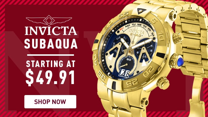 Invicta Subaqua Starting at $49.91 - 680-670 Invicta Shaq Men's 52mm Subaqua Noma I Limited Edition Swiss Quartz Chronograph Watch