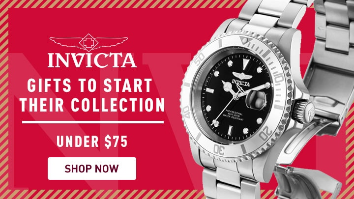 Invicta Gifts to Start Their Collection Under $75 - 681-501 Invicta 40mm Pro Diver Quartz Stainless Steel Bracelet Watch w 3-Slot Dive Case
