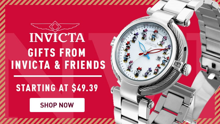 Invicta Gifts From Invicta & Friends - 682-539 Invicta Disney® Women's Minnie Mouse Limited Edition Quartz Crystal Accented Bracelet Watch