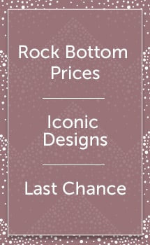 Rock Bottom Prices Iconic Designs Last Chance at ShopHQ