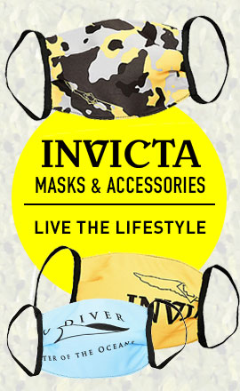 682-247 Invicta Set of 5 Fashion Face Masks
