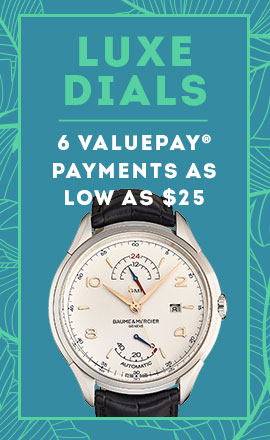 Luxe Dials 6 ValuePay® Payments As Low As $25 -  680-337 Baume Mercier 46mm Clifton Automatic GMT Leather Strap Watch