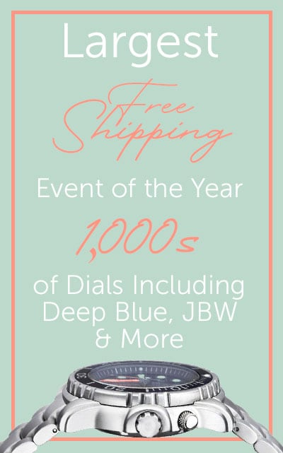 Largest Free Shipping Event of the Year 1,000s of Dials Including Deep Blue, JBW & More 676-643 Deep Blue Men's 45mm Professional Pro Tac Diver Automatic Date Stainless Steel Bracelet Watch
