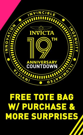 Invicta 19th Anniversary Countdown  Free Tote Bag w Purchase