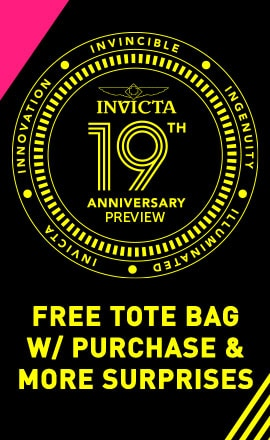 Invicta 19th Anniversary PREVIEW  Free Tote Bag w Purchase
