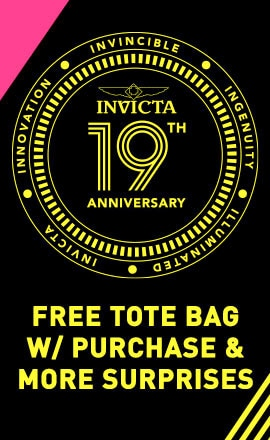 Invicta 19th Anniversary  Free Tote Bag w Purchase